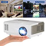 2018 Upgraded Pocket Mini Projector LED Home Indoor Outdoor 1500 lumen with HDMI