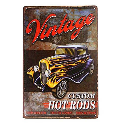DL-Vintage Hot Rod Garage Blechschilder Bundle - Legends American Hot Rod Metallplakette 20cmx30cm(7.8inch*11.8inch) 07