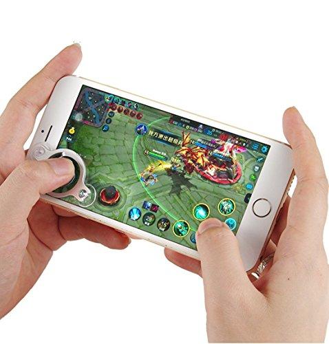 Morjava Mobile Joystick Game Controller Rocker Touchscreen Joypad für Telefon oder Pad / 3 STÜCKE