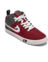 Asian shoes SKYPY-31 Mhroon Men Casual Shoes