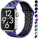 Hamile Correa para Apple Watch 38mm 40mm, Doble Color Pulsera de Repuesto de Silicona Suave...