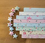 Funcoo 400 Sheets Lovely Cute Star Folding Paper Lucky Wish Star Origami Paper (Style-2)