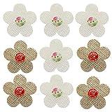 Yardwe 10pcs tela fiore pulsante celebrazione festival decorazione del partito fiore fai da te scarpe da donna fiore cappello decorazione floreale modello pulsante a caso