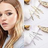 8 Stück Metall Geometrische Haarnadeln Frauen Hohl Minimalistisch Dainty Triangle Rhombus Haarspangen Zubehör Haarspangen Bobby Pin für Haarstyling Schmuck