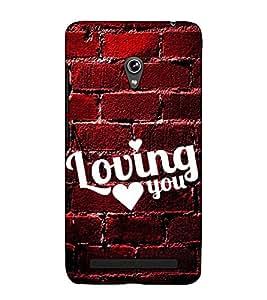 Fuson Designer Back Case Cover for Asus Zenfone 5 A501CG (Loving you theme)