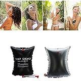 Ailiebhaus Portable 20L PVC Outdoor Camping Solarenergie Shower Bag Solardusche Wasser Beutel (Schwarz) - 3