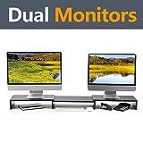 RFIVER CM1009 St?nder f¨¹r Zwei Monitore, mit L?nge und Winkel verstellbar, multifunktional, f¨¹r den Schreibtisch