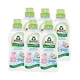 6x Frosch Baby Wäsche-Spüler 750 ml - Hypoallergen Babysanft