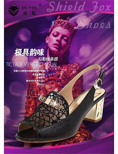 ShangYi gyht Scarpe Donna-Mocassini-Ufficio e lavoro / Formale / Casual-Comoda-Basso-Finta pelle-Nero / Bianco Black