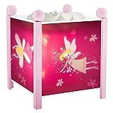Trousselier - Elfen prinses - nachtlampje - magische lantaarn - ideaal geboortegeschenk - kleur hout roze - geanimeerde afbeeldingen - rustgevend licht - 12V 10W gloeilamp inclusief - EU-stekker