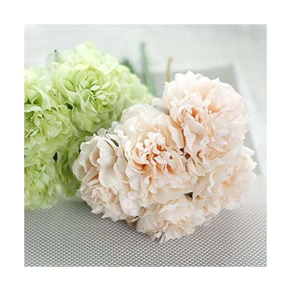 lamta1k 1 Bouquet 5 Piezas de Flores Artificiales Colores Vibrantes con un Toque Real de Apariencia Natural Fake Peony…