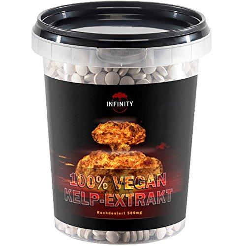 700 Tabletten - Kelp Extrakt, 500mg Kelp mit 150mcg Jod/Tablette, 100% Vegan, natürliche Quelle für Jod - Sea Algen
