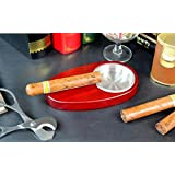 Sólido madera cenicero cigarrillo ranura especial cigarros cenicero , red