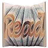 Unique plié livre Art–pages du livre plié dans un motif personnalisé pour former un nom ou la date.