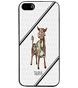 PrintDhaba Zodiac Taurus D-4799 Back Case Cover for APPLE IPHONE 5 (Multi-Coloured)
