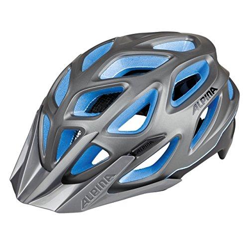 ALPINA Erwachsene Mythos 3.0 L.E. Fahrradhelm, darksilver-Titanium-Blue, 57-62 cm