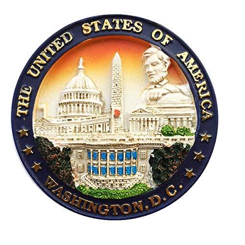 on, D.C. Capital of USA 3D Kühlschrankmagnet, Home & Kitchen Dekoration, Aufkleber Washington, D.C. USA Reise Souvenir Geschenk Kühlschrankmagnet ()