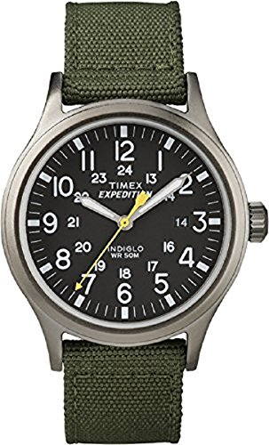Timex-Mens-Quartz-Watch-with-dial-Analogue-Display-and-Nylon-Strap