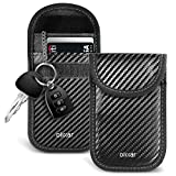 Olixar RFID Key Pouch - Triple Layered Signal Blocking - NFC Protection - Auto Key Signal Blocker - met PermaLock - Carbon Fibre