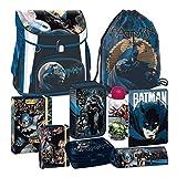 Batman 9 Teile Schulranzen Ranzen Tornister Tasche Schulrucksack Federmappe Set inkl. Sticker von kids4shop