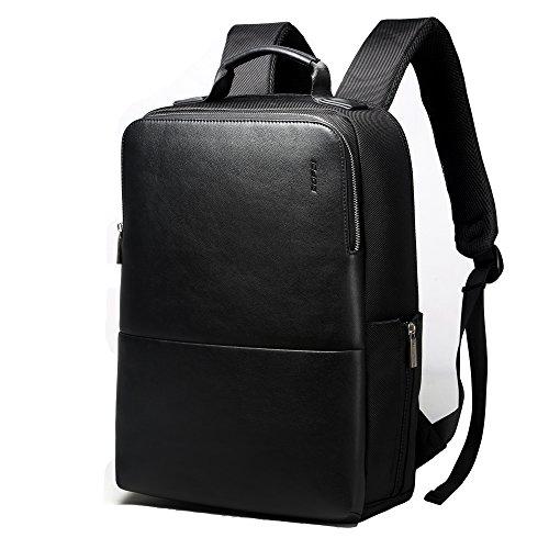 Bopai zaino per da uomo 15 pollici computer portatile scuola zaino affari impermeabile zaino in nylon balistico nero