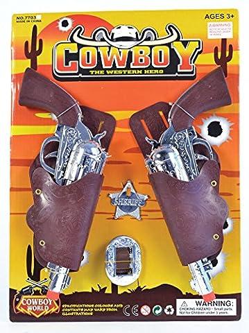 Cowboy Holster/Gun Set Child Weapon Accessory for Wild West Fancy