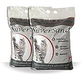 Silversand klumpendes Katzenstreu Babypuderduft 2 x 15kg