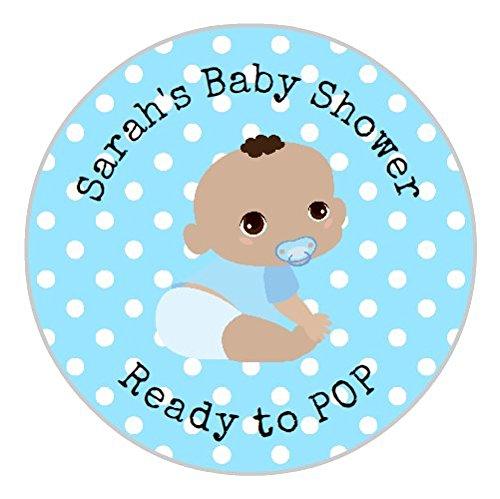 24Personalisierte Baby Dusche Blue Boy Spots 3Cute Baby Dusche Partei Tasche Danke Sweet Konus Aufkleber Etiketten 3c (Personalisierte Baby-dusche-etiketten)