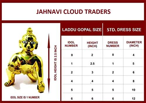Jahnavi Laddu Gopal Ji Nappy Cotton (Pack of 6) for Summer with Grip (CHADDI for Krishna Idol) (Ladoo Gopal Dress Nekar) Low Price (Size: 1 no.)