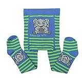 Esda Kinderstrumpfhose Baby Strumpfhosen mit Po Motiv Farbe Blau/Grün Jungenstrumpfhose Mädchen Strumpfhosen 75% Baumwolle
