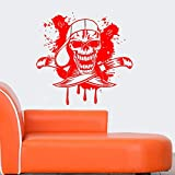 guijiumai Dctal Skull Halloween Hat Dagger Sticker Punk Death Decal Devil Poster Name Car Window Art Wall Decals Parede Decor Mu 1 116x120cm