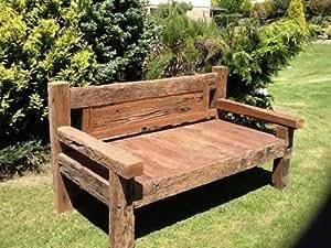 banc de jardin en traverse de chemin de fer cuisine maison. Black Bedroom Furniture Sets. Home Design Ideas