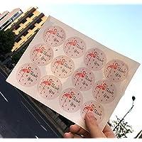Lindou - Pegatinas con diseño de flamenco para sobres, 5 hojas