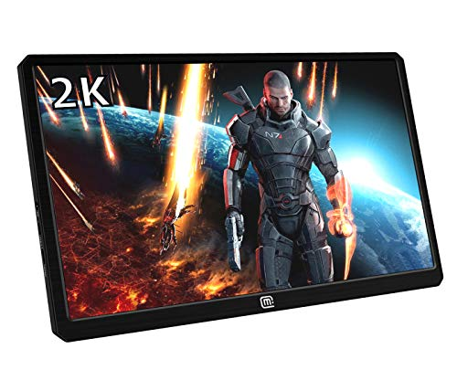 Hd Lcd-monitor (Magedok 13.3 Inch 2K Resolution Portable Gaming Monitor IPS Quad-HD 2560 * 1440 LCD Display with USB C/Hdmi Input,HDR,USB Powered,Ultra Slim Only 1CM,CNC Alu Shell,Built in Speakers)