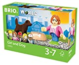 BRIO World 33952 - Village Kind mit Hund, bunt