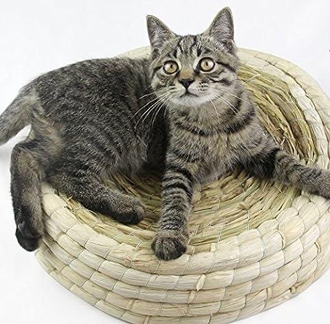 HAPPYX Unique chat litiere, chat a saisi la hiérarchie du gallium. Lit manuel Kitty Cat! (M:45CM)