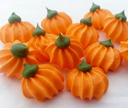 12Zucker Kürbisse–Halloween Essbare Zucker Kuchen Topper - Essbar Halloween-kürbisse