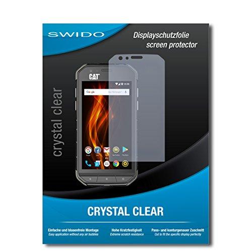 SWIDO Displayschutz für Caterpillar Cat S31 [4 Stück] Kristall-Klar, Hoher Härtegrad, Schutz vor Öl, Staub und Kratzer/Schutzfolie, Displayschutzfolie, Panzerglas Folie