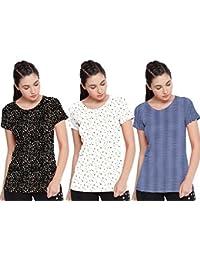 Sneak Peak Ladies AOP Pack of 3 T Shirt (XXX-Large)