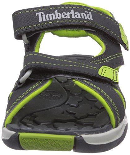 Timberland Sporty Ftk_Mad River 2 Strap, Sandales Bout Ouvert Mixte Adulte Gris foncé/vert