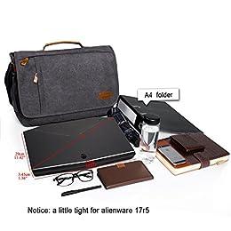 Acheter Estarer 17-17.3 Sac Ordinateur Portable Toile Vintage... en ligne