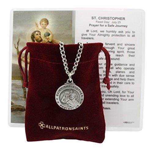 medaille-st-christophe-carte-de-priere-avec-ensemble-de-collier-chaine-de-61-cm