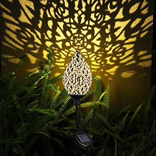 Solar laterne Gartenlicht Outdoor Solarleuchten Garten Deko solarlampen für außen Terrasse Dekorative Metall Kunst Garten Zubehör Outdoor Dekorationen für Veranda Pathway und Hof Weihnachten