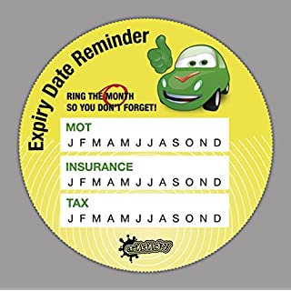 NEW! Set of 5 Artisticky Driver's Auto Expiry Dates Reminders for Tax, MOT, Insurance.