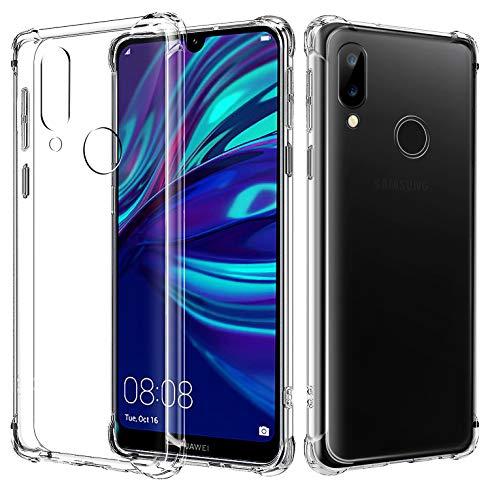 AIFIVE Huawei Y7 2019 Hülle, Transparent TPU Ultra Dünn Stoßfest mit Ecke-Stoßfänger Design Handyhülle für Huawei Y7 2019 (Transparent)