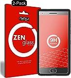 nandu I ZenGlass [2 Stück] Flexible Glas-Folie für BlackBerry Motion Panzerfolie I Bildschirm-Schutzfolie 9H I (Kleiner Als Das Gewölbte Bildschirm)