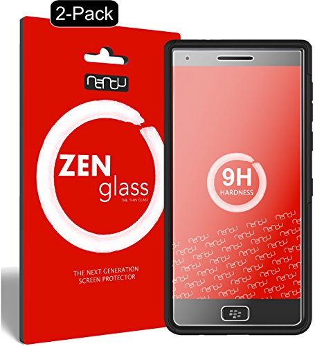 nandu I ZenGlass [2 Stück] Flexible Glas-Folie für BlackBerry Motion Panzerfolie I Display-Schutzfolie 9H I (Kleiner Als Das Gewölbte Display) Motion-display