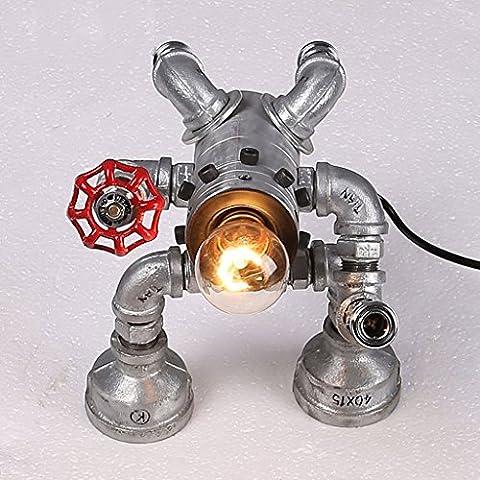 lámpara de robot de la personalidad creativa de la vendimia forjado barras de hierro americanos Transformers accesorios de plomería decorativos