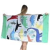 Eeayyygch 100% Baumwolle Cute Cartoon Design Strand Handtuch für Kinder Sonnenschutz Pool Handtuch Sauna Gym Bad Decke Orange Lion 63