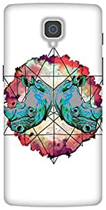 The Racoon Lean printed designer hard back mobile phone case cover for Oneplus 3. (Horny Diam)